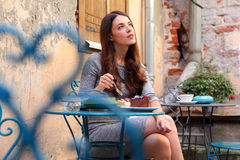 Romantic cafe Royalty Free Stock Images