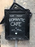 Romantic cafe royalty free stock photography