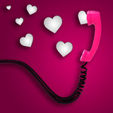 Romantic Call Indicates Text Space And Chat Stock Photo