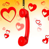 Romantic Call Represents Conversation Fondness And Discussion. Romantic Call Showing Chat Communicating And Discussion royalty free illustration