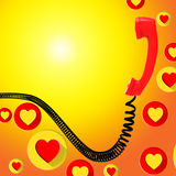 Romantic Call Represents Find Love And Blank Royalty Free Stock Photo