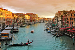 Romantic Canal Grande in Venice Stock Photography