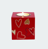Romantic candle. One candle for romantic evening Stock Images