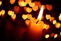 Romantic candle Stock Photos