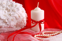 Romantic candle Stock Image