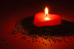 A romantic candle Royalty Free Stock Image