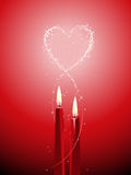 Romantic candle background Stock Photos