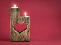 Romantic candle holder Royalty Free Stock Photos
