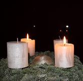 Romantic candle light Royalty Free Stock Photography