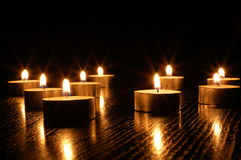 Romantic candle light Royalty Free Stock Photos