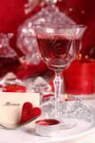 Romantic candle light dinner Stock Photography
