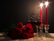 Romantic candle lit scene Royalty Free Stock Photo
