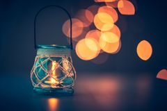 Romantic candlelight atmosphere Stock Photo