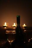 Romantic candlelight dinner Stock Photos