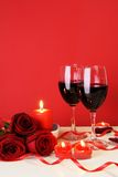 Romantic Candlelight Dinner Concept Vertical Royalty Free Stock Photography