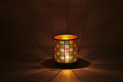 A romantic Candlelight Lamp Stock Photography