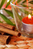 Romantic candles Stock Photos