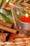 Romantic candles stock photos