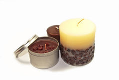 Romantic Candles. Tree romantic candles for special ocasions Stock Photos