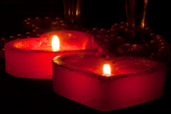 Romantic candles Stock Photography