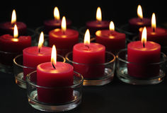 Romantic candles background Stock Photos