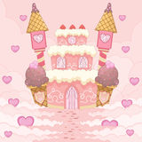 Romantic Candy Castle Royalty Free Stock Photos