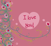 Romantic card Royalty Free Stock Photography