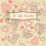Romantic card stock image