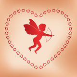 Romantic vector card with angel for valentine day Stock Image