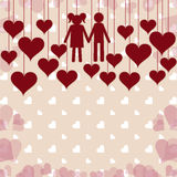 Romantic card background Stock Photo