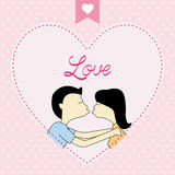 Romantic card75 Royalty Free Stock Images