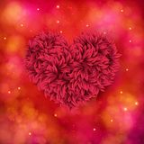 Romantic card design of a red floral heart Royalty Free Stock Photos