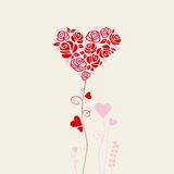 Romantic card Royalty Free Stock Images