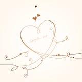 Romantic card Royalty Free Stock Photo