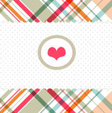 Romantic card with heart Stock Image