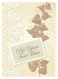 Romantic card with ivy Stock Photos