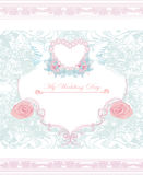 Romantic card with love birds Royalty Free Stock Images
