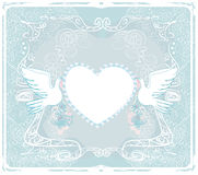 Romantic card with love birds Stock Photography