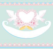 Romantic card with love birds - Wedding Invitation Royalty Free Stock Photos