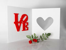 Romantic card for lovers Royalty Free Stock Photos