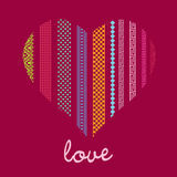 Romantic  card ornamenral heart Stock Photography