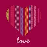 Romantic  card ornamenral heart Stock Photography