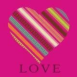 Romantic card Ornamental heart Stock Photo