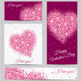 Romantic card. Romantic Heart. Happy Valentines Day card. Postcard, heart, red heart in love banner, I love you. Romantic card. Romantic Heart. Happy Valentines Stock Photo