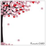 Romantic card tree of love Stock Photos