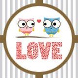 Romantic card2 Royalty Free Stock Image