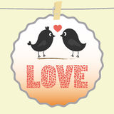 Romantic card3 Royalty Free Stock Photo