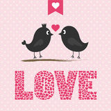 Romantic card51 Royalty Free Stock Photography
