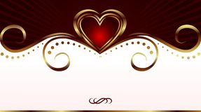 Romantic card for valentine's day Stock Photography