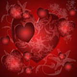 Romantic card for valentine s day. Romantic card for valentine's day- red heart Royalty Free Stock Photography